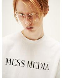 SLEAZY CORNER - [unisex] Mess Media Half T Shirt White - Lyst