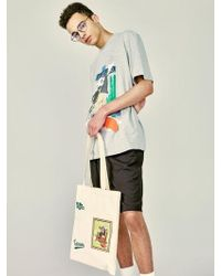 W Concept - [unisex] Blade Patch Eco Bag Ivory - Lyst
