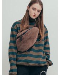 W Concept - Faux Fur Cross Fanny Pack_light Brown - Lyst