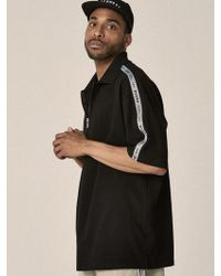 OVERR - 17su Taping Black Zipup Shirts - Lyst