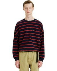LIFUL MINIMAL GARMENTS - Minimal Striped Long Sleeve Navy - Lyst