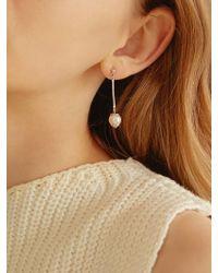Matias - Silver Pearl Earring - Lyst