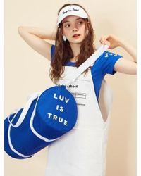 W Concept - (unisex)re Duffle Bag(blue) - Lyst