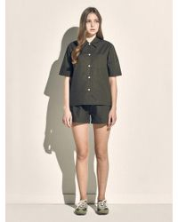 MONOPISPA - Women Marilyn Short Sleeve Pj Set Poplin Olive - Lyst