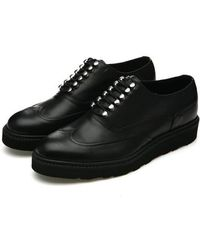 DEMIHAND - No Brogue Half Wing-tip Black - Lyst