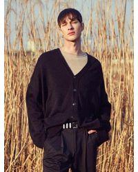 YAN13 | Oversize Basic Cardigan_black | Lyst