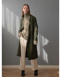 PLOT - Snapping Handmade Coat_deep Green - Lyst