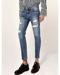 LIUNICK - Expression Washed Jean - Lyst