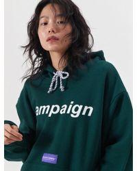 SLEAZY CORNER - Campaign Hoodie Green - Lyst