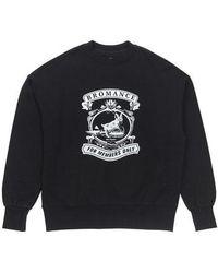 BEYOND CLOSET | [unisex]bromance Mono Stamp Sweat Shirt Black | Lyst