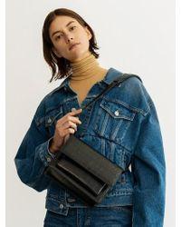 DEMERIEL - Classic Bag Crocodile Texture Medium - Lyst