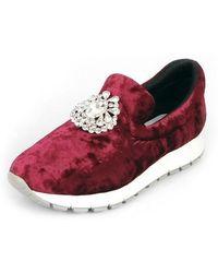 SHOBONYATA - Jewelry Soft Velvet Sneakers_s3037w - Lyst