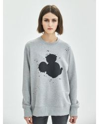 COLLABOTORY - [unisex] Artist Mickey Mouse Sweatshirt In Gray - Lyst