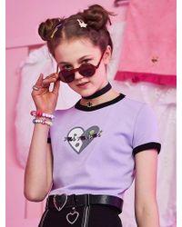 VVV - Purple Heart Ying Yang Crop Top - Lyst