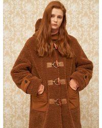 1159 STUDIOS - Mh8 Dumble Duffle Coat Brown - Lyst