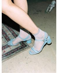 W Concept - Ann Cushion Strap Sandle- Sky Blue - Lyst