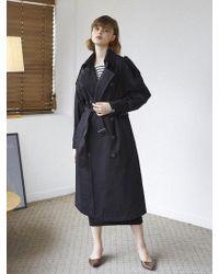 W Concept - [flash Sale] Newyork Trench Coat Black - Lyst