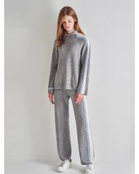a.t.corner - High Neck Jumper In Grey - Lyst