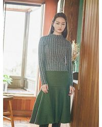 Grace Raiment - Flare Knit Long Skirt - Lyst