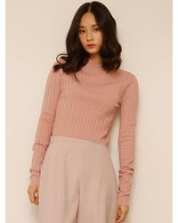 among - A Basic Crop Knit - Lyst