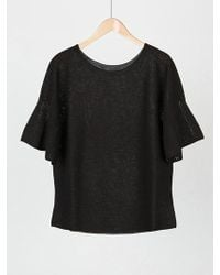 MOIMOII - Whole Garment Retro Round Knit - Lyst