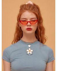 NANA CREW - Daisy Cropped T-shirt - Sky Blue - Lyst