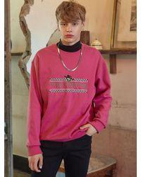 VVV - [unisex] Alien Logo Pink Sweatshirt - Lyst