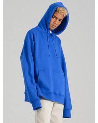 COSTUME O'CLOCK - Smcocl K Oversized Hooded Sweatshirt Blue - Lyst