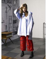 OUAHSOMMET - Double Ruffle Shirts Dress_bl - Lyst