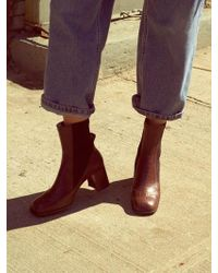 Wite - D03 - Brown Texture Ella Anckle Boots - Lyst