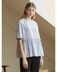 COLLABOTORY - Bbama0013m Flounce Cropped Top_2color - Lyst