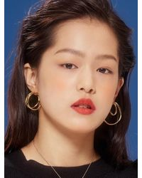 VIOLLINA - Playing Wire Hoop Earring - Lyst