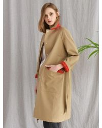 W Concept - Basic Mac Trench Coat Beige - Lyst