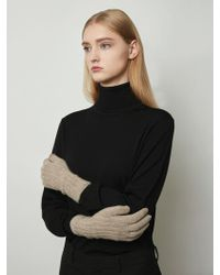 MADGOAT - Cashmere Touch Gloves Melange Beige - Lyst