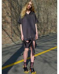 W Concept - Snap Point Dress -black - Lyst