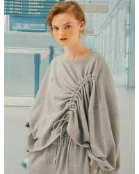 ANOTHER A - String Tunnel Pullover Grey - Lyst