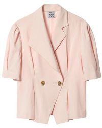 THE ASHLYNN - Jolie Unbalanced Collar Blouse Pink - Lyst