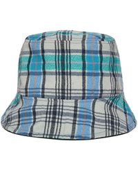 Awesome Needs - Basic Bucket Hat_check Blue - Lyst