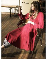OUAHSOMMET - Choker V-neck Dress Pink - Lyst