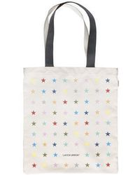 W Concept - Multi Star Tote Bag Grey - Lyst