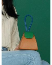 Atelier Park - Color Block Handle Bag(5color)+chain Strap - Lyst