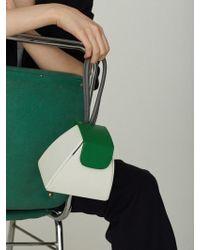 Atelier Park Colour Block Handle Bag(5color)+chain Strap