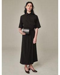 Bouton - Painter Dress Black - Lyst