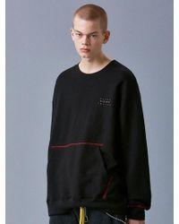 VOIEBIT - V342 Pocket Stitch Sweatshirt_black - Lyst