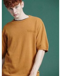 NOHANT - [unisex] Winter Knit T Shirts Mustard - Lyst