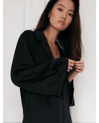 W Concept - Maison Bell Sleeve Shirt Black - Lyst