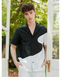 BONNIE&BLANCHE - Wave Summer Shirt Black - Lyst