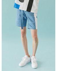 BONNIE&BLANCHE - Colored Denim Shorts (sky Blue) - Lyst
