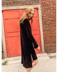 COLLABOTORY - B7cma4010m Bell Sleeve Velvet Dress - Lyst