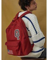 W Concept - Logo Vintage Backpack_red - Lyst